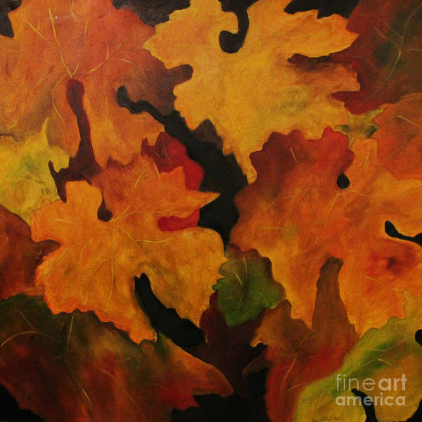 Leaves Poster featuring the painting Vine Leaves by John Stuart Webbstock