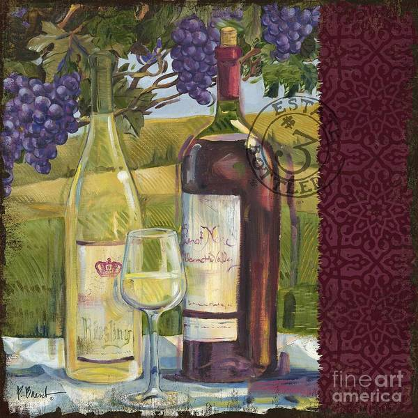 Cabernet Poster featuring the painting Vineyard Wine Tasting Collage II by Paul Brent