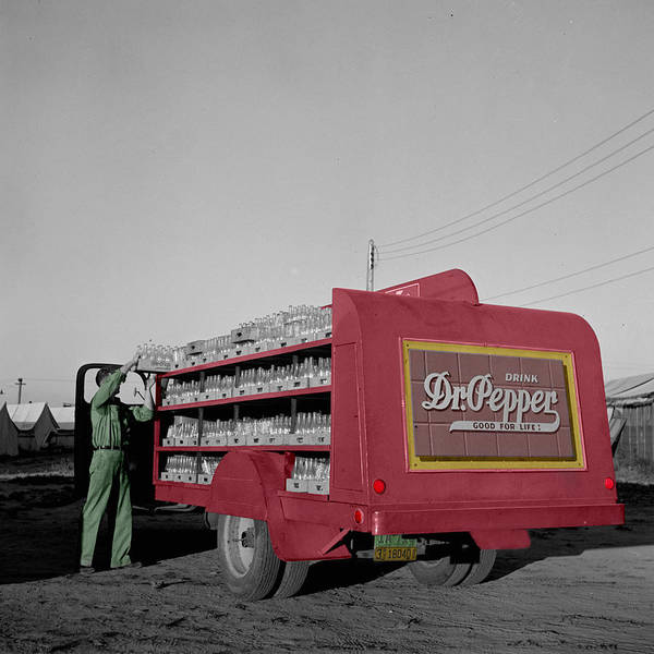 Vintage Dr Pepper Truck Poster By Andrew Fare