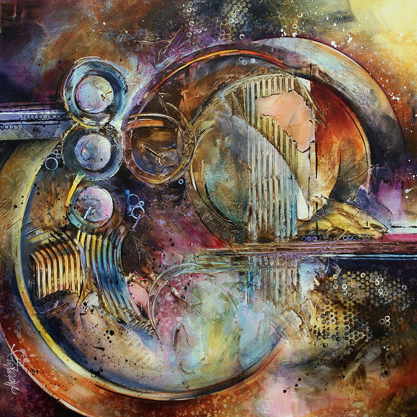 Abstract Poster featuring the painting 'visions Of Eight' by Michael Lang