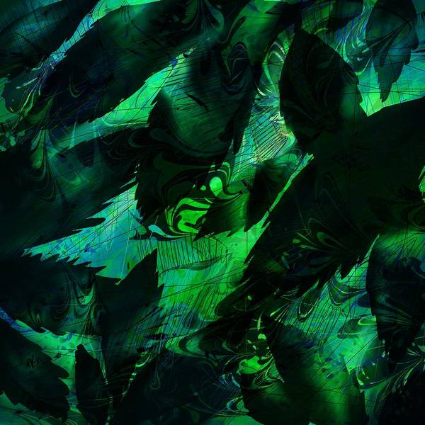 Abstract Poster featuring the digital art Weeds by Rachel Christine Nowicki
