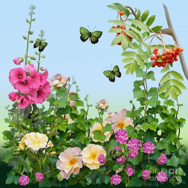Painting Poster featuring the painting Wild Garden by Ivana Westin
