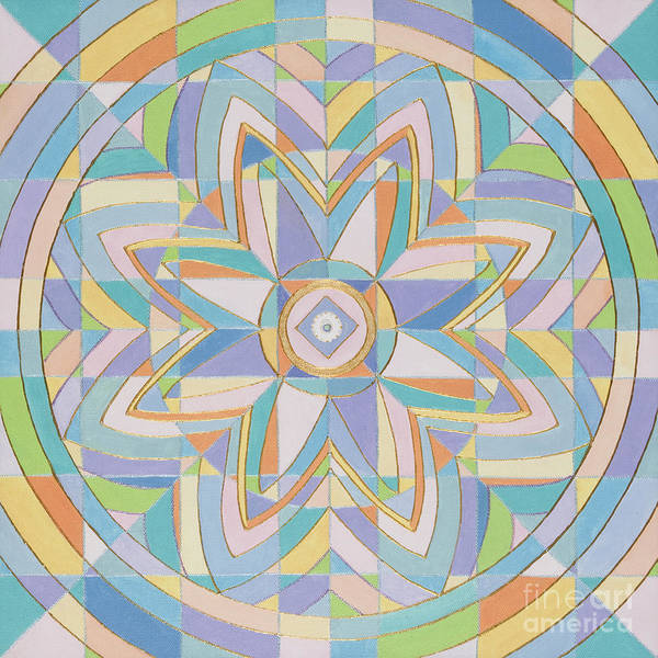 Mandala Poster featuring the painting Window Of The Ascended Masters by Charlotte Backman