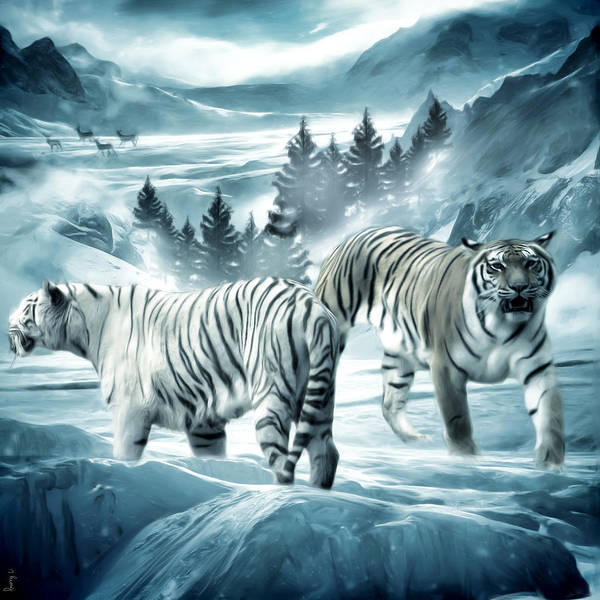 Tiger Poster featuring the photograph Winter Deuces by Lourry Legarde