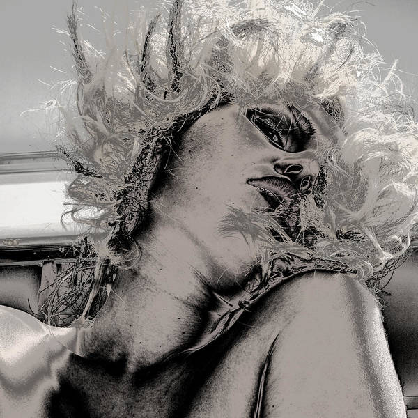 Fine Art Nude Poster featuring the photograph Women Body-metalic Face by Robert Litewka