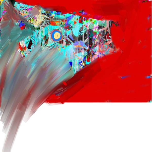 Abstract Poster featuring the digital art Yikes by Dave Kwinter