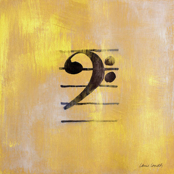 Bass Poster featuring the painting Bass Clef by Lanie Loreth