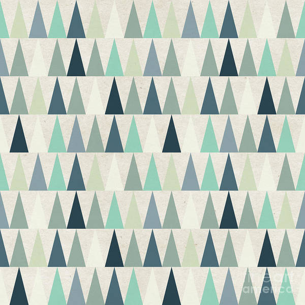 Paper Texture Poster featuring the digital art Seamless Geometric Pattern On Paper by Irtsya