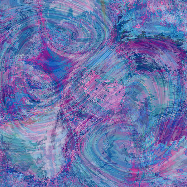 Nonobjective Poster featuring the digital art Aqueous Meditations #01 by James Fryer