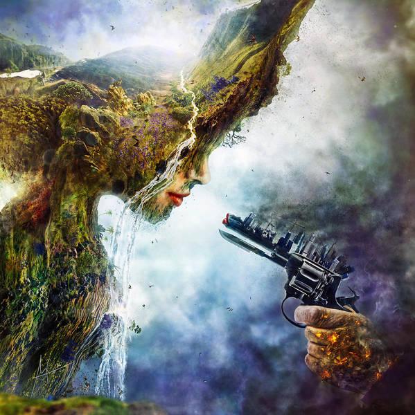 Betrayal Poster featuring the digital art Betrayal by Mario Sanchez Nevado