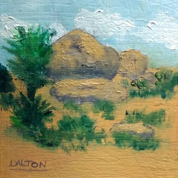 Desert Poster featuring the painting High Desert Rock Garden by George Dalton