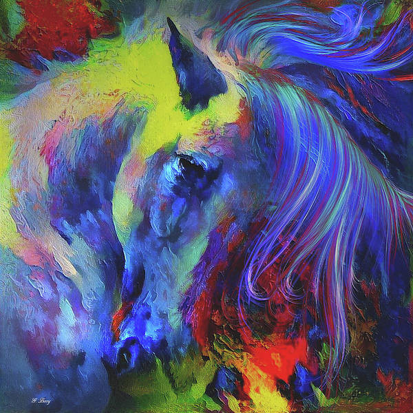 Painted Pony Poster featuring the mixed media The Painted Pony by G Berry
