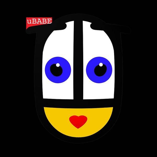 Ubabe Black Style Poster featuring the digital art uBABE Black by Ubabe Style