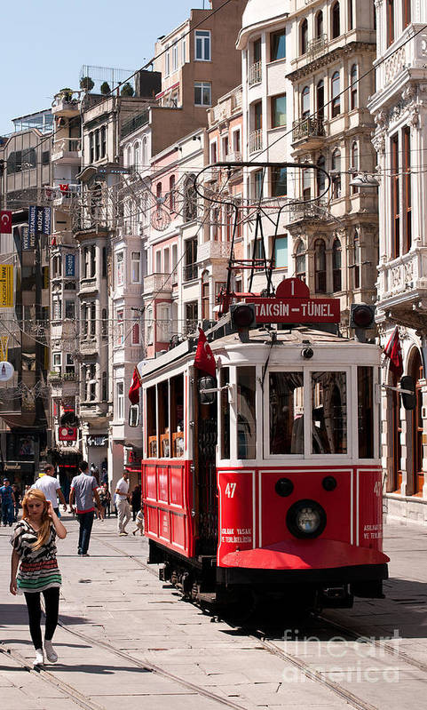 Istanbul Poster featuring the photograph Nostalgic Tram 01 by Rick Piper Photography