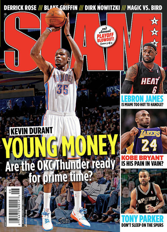 Kevin Durant Poster featuring the photograph Kevin Durant: Young Money SLAM Cover by Getty Images