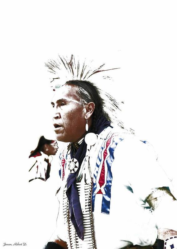 Native American Poster featuring the digital art Indian Warrior by Robert Jensen
