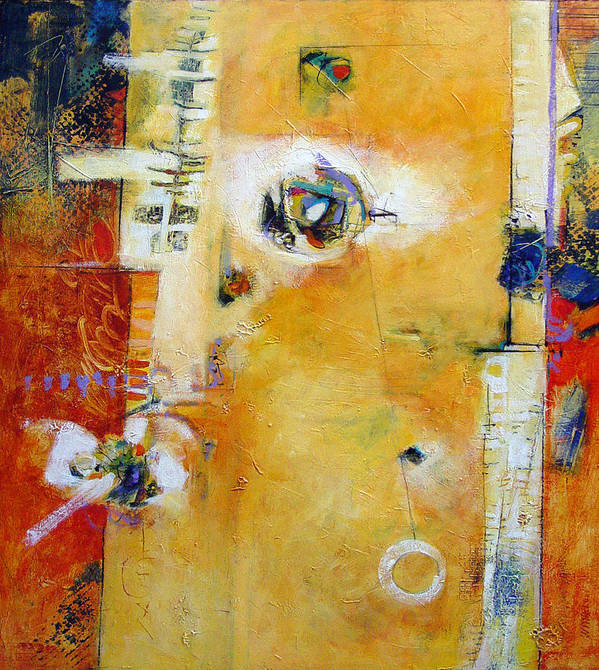 Abstract Poster featuring the painting Dervish by Dale Witherow