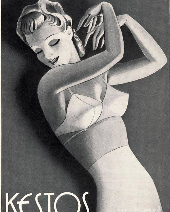 1930 s Poster featuring the drawing 1930s Uk Womens Underwear Kestos by The  Advertising Archives d49de9d56