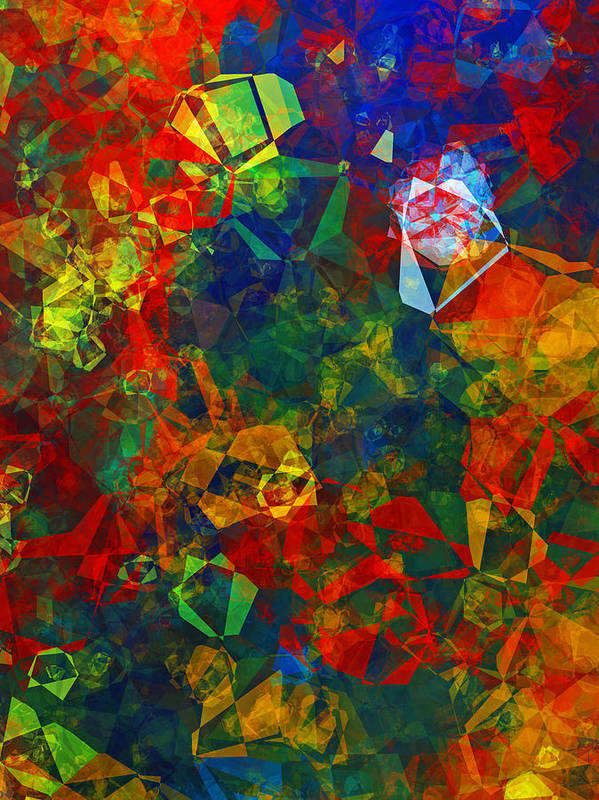 Abstract Poster featuring the digital art Electronics by Patricia Motley