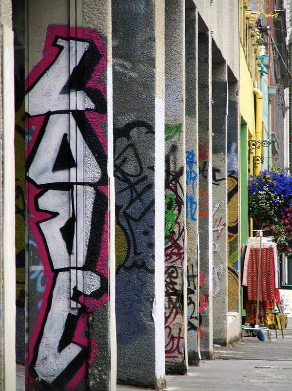 Graffiti Poster featuring the photograph Graffiti Love by David Lucero