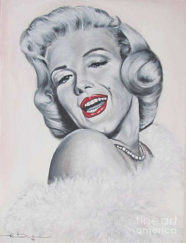Marilyn Monroe Poster featuring the painting Marilyn Monroe by Eric Dee