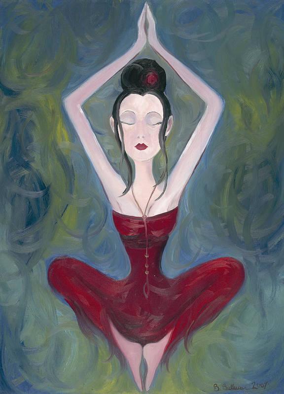 Seeking Poster featuring the painting Seeking by Stephanie Broker
