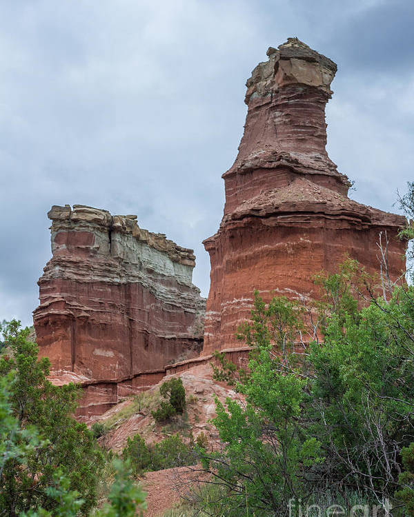 Lighthouse Poster featuring the photograph 07.30.14 Palo Duro Canyon - Lighthouse Trail 19e by Ashley M Conger
