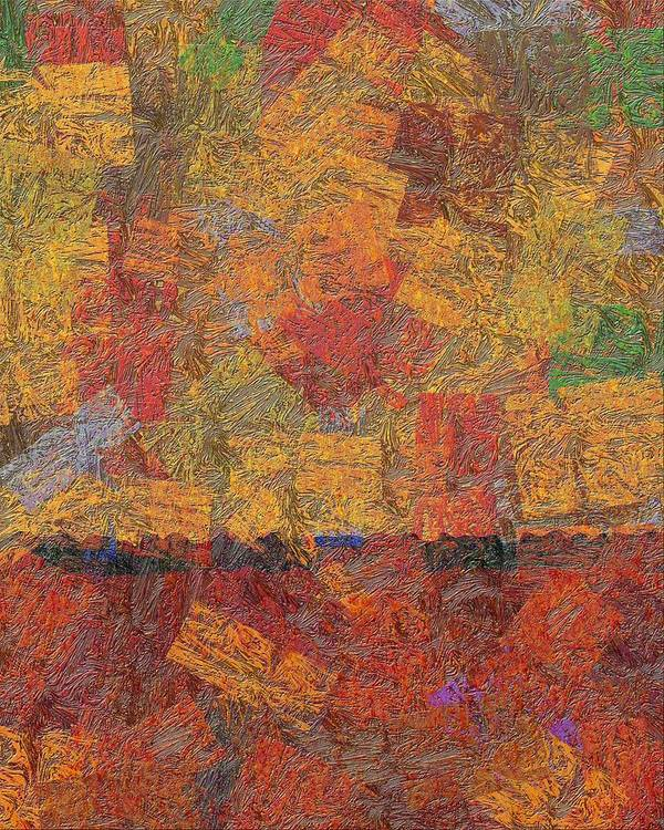 Abstract Poster featuring the digital art 0774 Abstract Thought by Chowdary V Arikatla