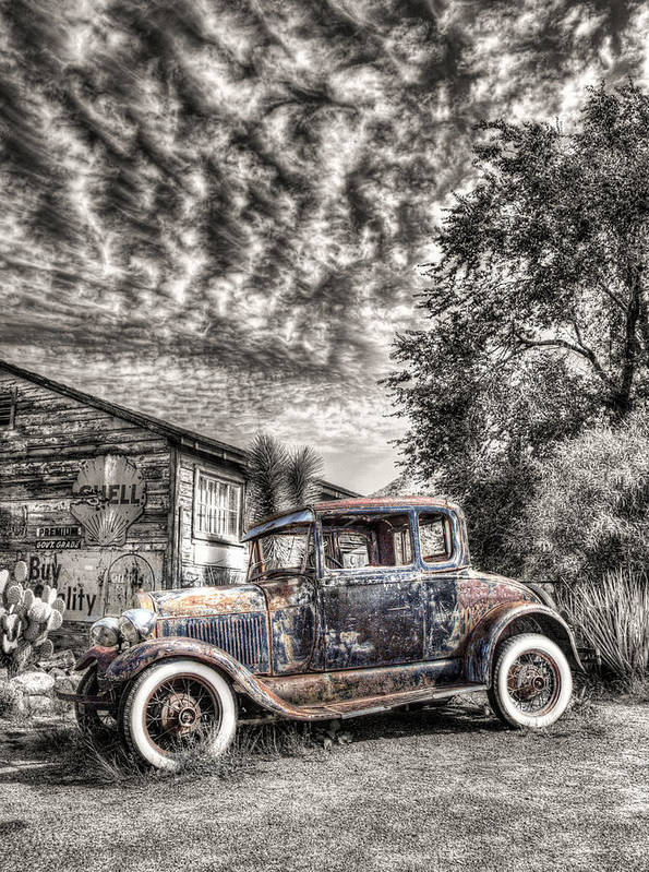 1928 Poster featuring the photograph 1928 Ford Model A by Robert Jensen