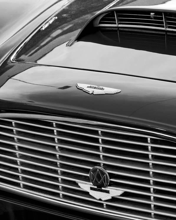 1960 Aston Martin Db4 Grille Emblem Poster featuring the photograph 1960 Aston Martin Db4 Grille Emblem by Jill Reger