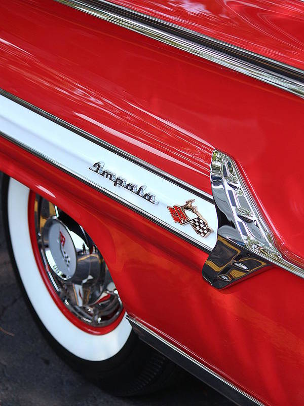 1960 Chevy Poster featuring the photograph 1960 Chevy Impala by Rosanne Jordan