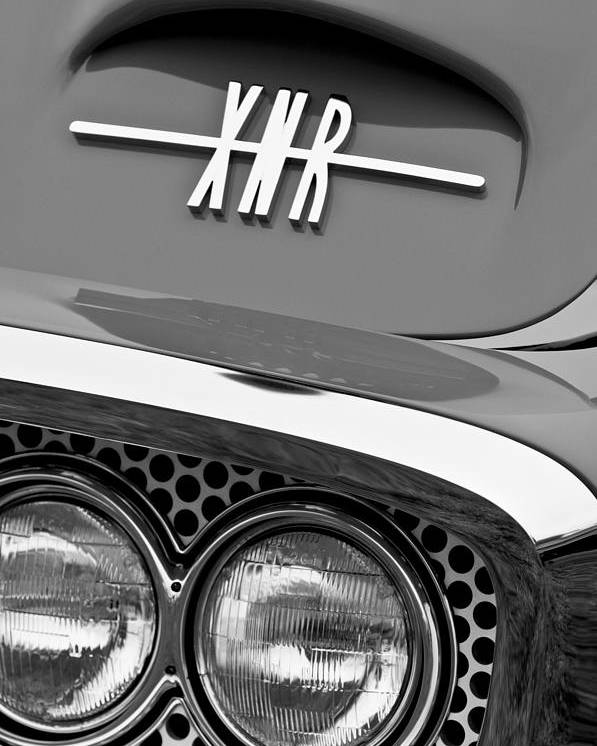 1960 Plymouth Xnr Ghia Roadster Grille Emblem Poster featuring the photograph 1960 Plymouth Xnr Ghia Roadster Grille Emblem by Jill Reger
