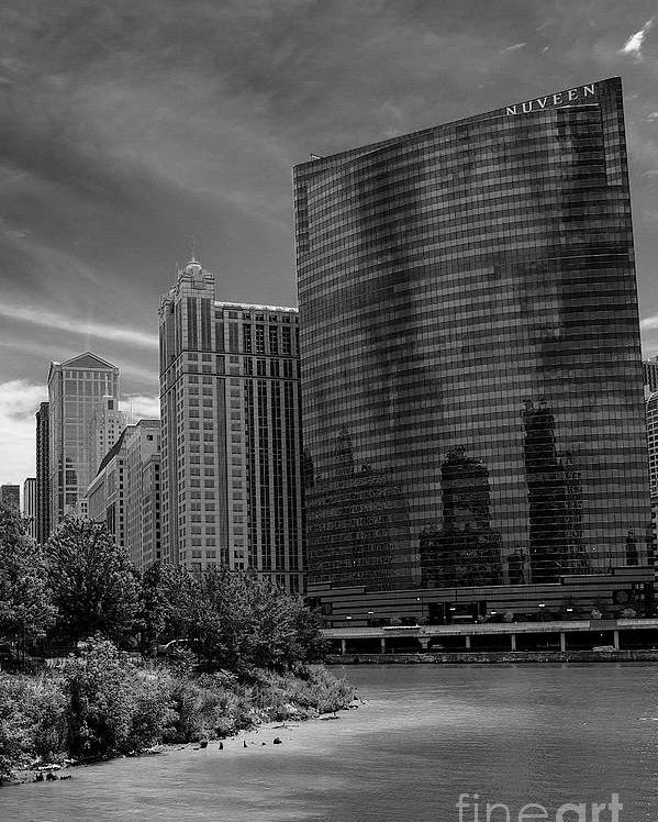 Chicago Poster featuring the photograph 333 W Wacker Chicago by Cheryl Hurtak