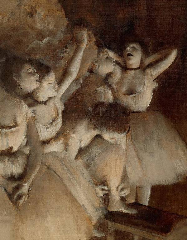Painting Poster featuring the painting Ballet Rehearsal On Stage by Edgar Degas