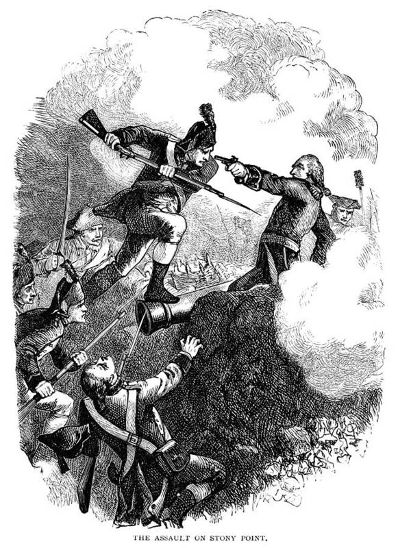 1779 Poster featuring the photograph Battle Of Stony Point, 1779 by Granger