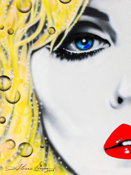 Blondie Poster featuring the painting Blondie by Alicia Hayes