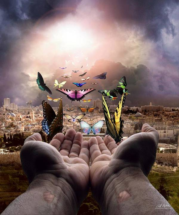Israel Poster featuring the digital art Born Again Israel by Bill Stephens