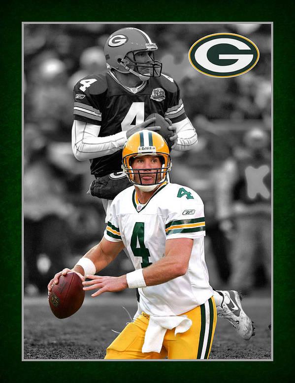 Brett Favre Poster featuring the photograph Brett Favre Packers by Joe Hamilton