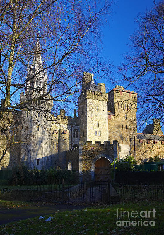 Poster featuring the photograph Cardiff Castle by Premierlight Images