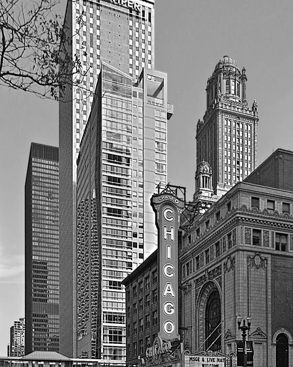 Chicago Poster featuring the photograph Chicago Theatre - This Theater Exudes Class by Christine Till