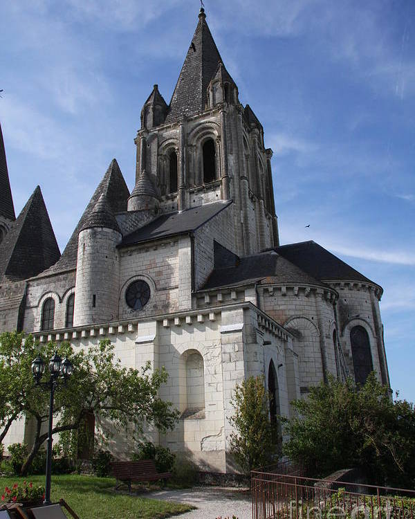 Church Poster featuring the photograph Church - Loches - France by Christiane Schulze Art And Photography