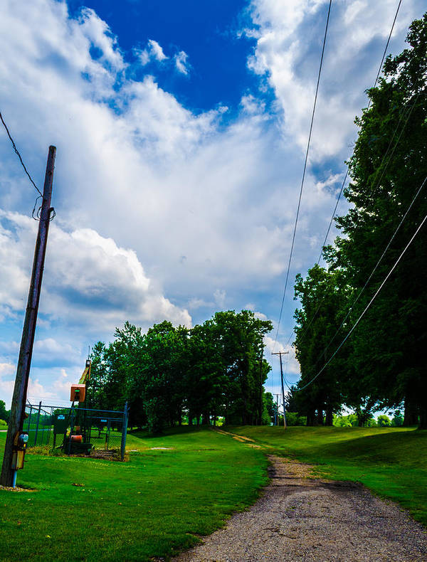 Nature Poster featuring the photograph Cloudy Trail by Ryan Routt