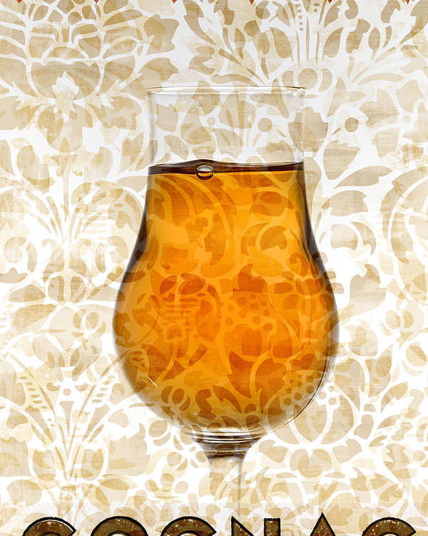 Cognac Poster featuring the mixed media Cognac by Frank Tschakert