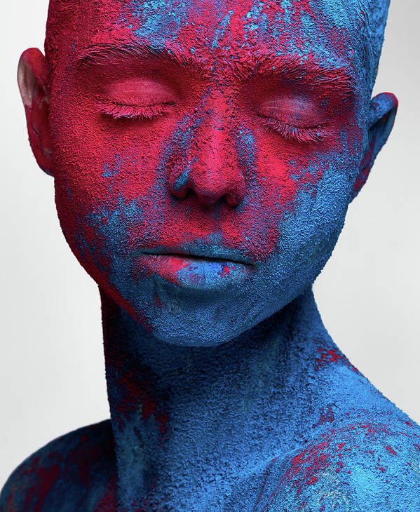 Portrait Poster featuring the photograph Colored Ecstasy by Alex Malikov