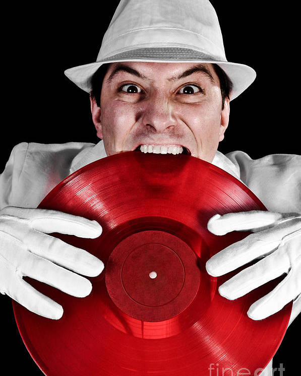 Vinyl Poster featuring the photograph Crazy Dj by Jt PhotoDesign