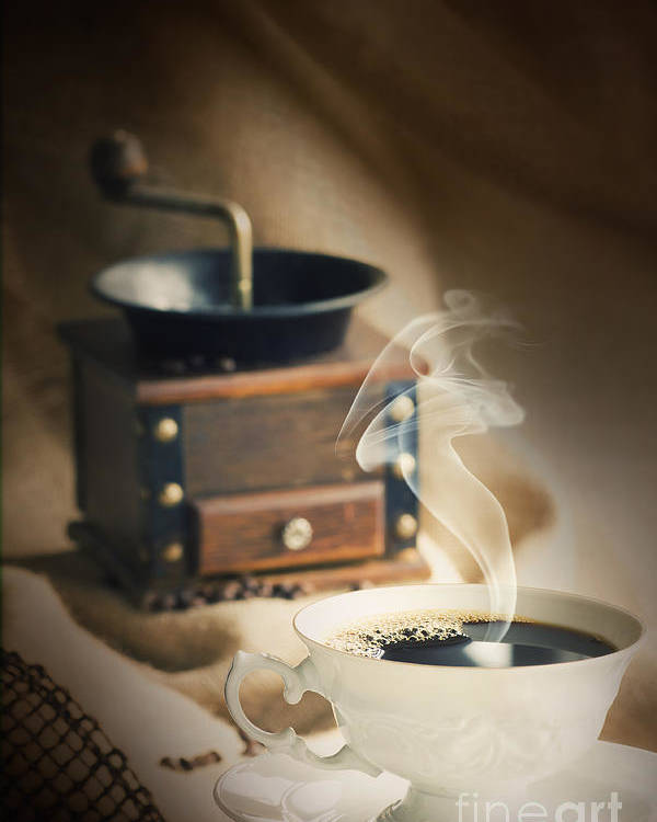 Addiction Poster featuring the photograph Cup Of Coffee by Mythja Photography