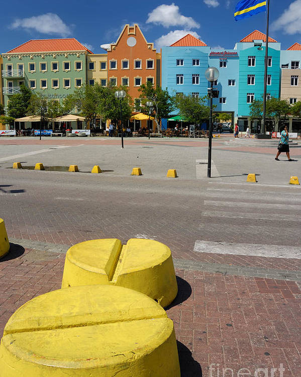 Willemstad Poster featuring the photograph Curacaos Colorful Architecture by Amy Cicconi
