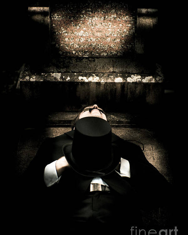 Bizarre Poster featuring the photograph Deceased Man In Repose by Jorgo Photography - Wall Art Gallery