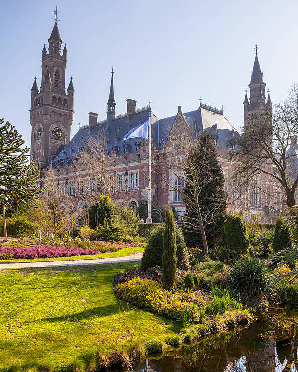 Peace Palace Poster featuring the photograph Den Haag by Joana Kruse