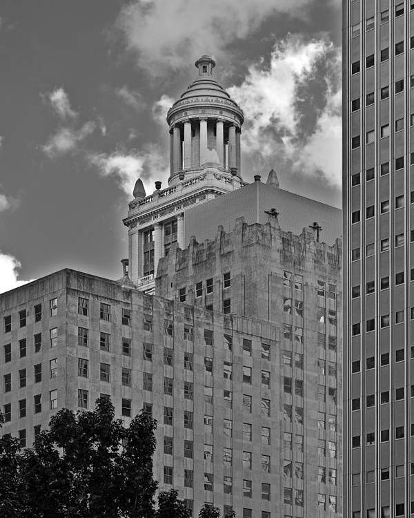 Houston Poster featuring the photograph Esperson Buildings Houston Tx by Christine Till